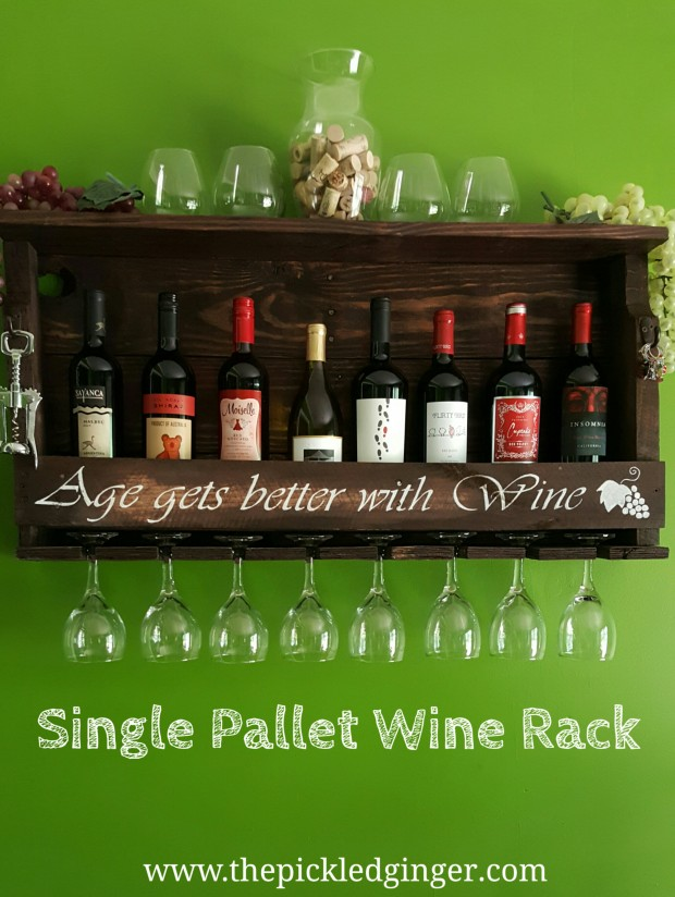 Single Pallet Wine rack